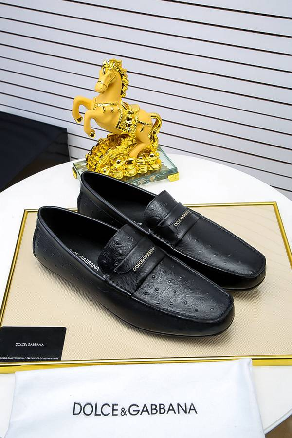 Replica High Quality DG Leather Shoes for Men