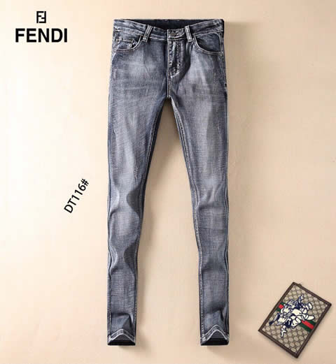 Replica High Quality Fendi Jeans For Men