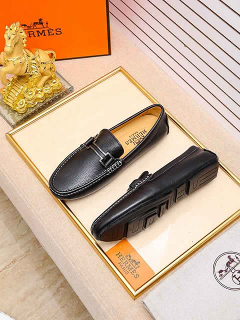 Replica High Quality Hermes Leather Shoes for men
